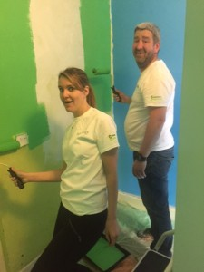 The Navigant team give the refuge's playroom a little TLC
